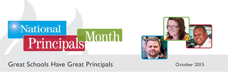 "logo for ""october is national principals month"""